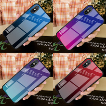 DATALAND Tempered Glass Case For iphone 7 case Liquid Silicone phone for 6 8 Plus X XR XS Max Shockproof  Cover