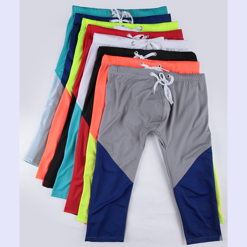 AIBC Men Slim Fit Swimming Trunks Shorts With Drawstring Semi-Gloss Swimming Pool Sports Casual Moderate Elasticity 011-zk