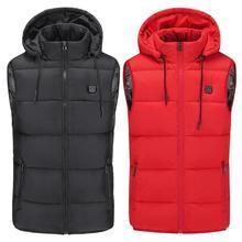 Новинка, мужской и женский жилет с электрическим подогревом, теплый жилет с USB, теплая зимняя куртка с перьями, охотничья куртка, Прямая поставка