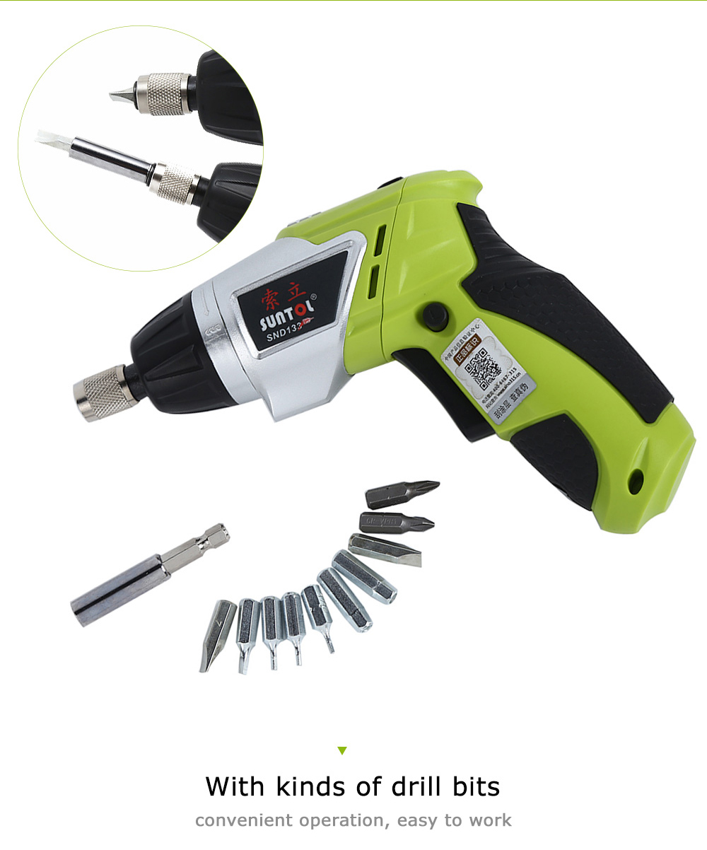 Hc3726129484341a6aa5a43d8116c2312T - 3.6V Rechargeable Battery Cordless Electric Drill Screwdriver with Bits Set