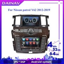 Автомагнитола 2 din на Android с GPS-навигацией и двойным экраном, мультимедийный проигрыватель для Nissan патруль Y62 2010-2020