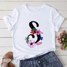 Женская футболка с надписью «Английский алфавит» 26 дюймов