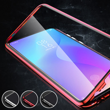 Metal Magnetic Phone Case For xiaomi mi 9t pro Double Sided Glass Cases On Xiami Xiomi 9 t 9tpro t9 k20 360 Funda Cases Fundas