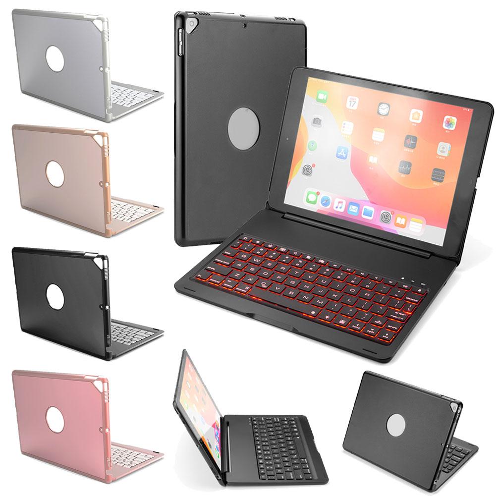Освещенная контржурным светом Беспроводной клавиатура чехол для iPad 10,2 дюймов 2019 iPad 7th Gen планшет чехол с клавиатура Buletooth A2197 A2200 A2198 A2232