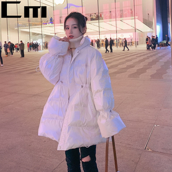 2020 Winter Women Oversize Warm Down Jackets Gloss White Stand Collar Tight Thick Casual Female Down Coats Solid Piumini Donna стойка для акустики elac stand ls 50 high gloss white