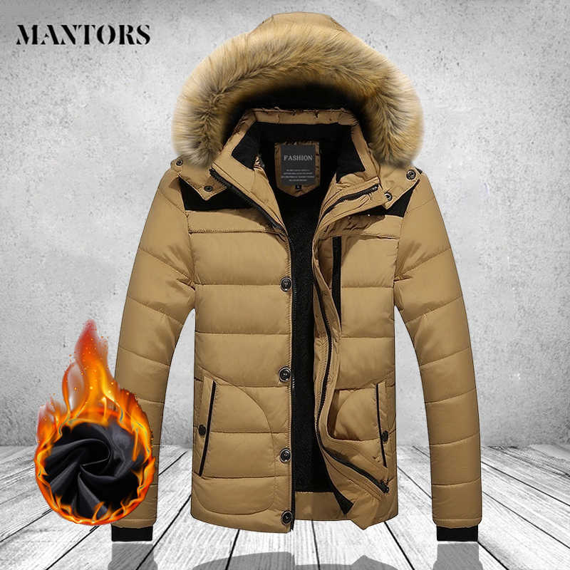 Thick Warm Winter Coat Men Fashion Hooded Casual Outdoor Man Down Jacket Parka Windbreaker Mens Overcoat Plus Size Male Outwear