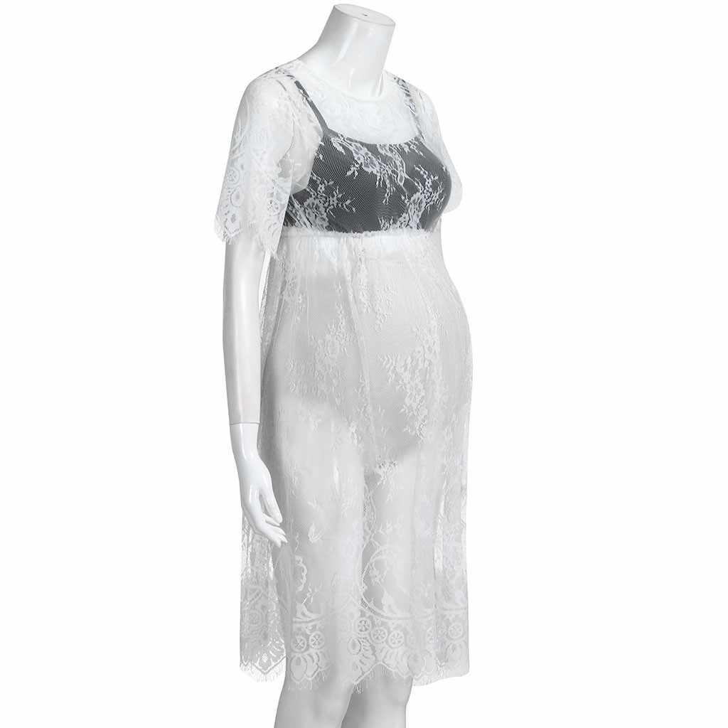 Fotografia maternidade adereços rendas ver através vestido de maternidade fantasia roupas estúdio gravidez fotografia adereços melhor transporte da gota