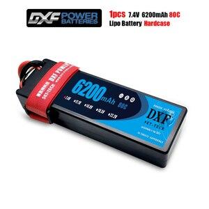 DXF 7,4 V 6200mAh 80C Max 160C LiPo аккумулятор 2S Твердый Чехол для 1/8 1/10 RC модель автомобиля TRX Slash Emaxx Band