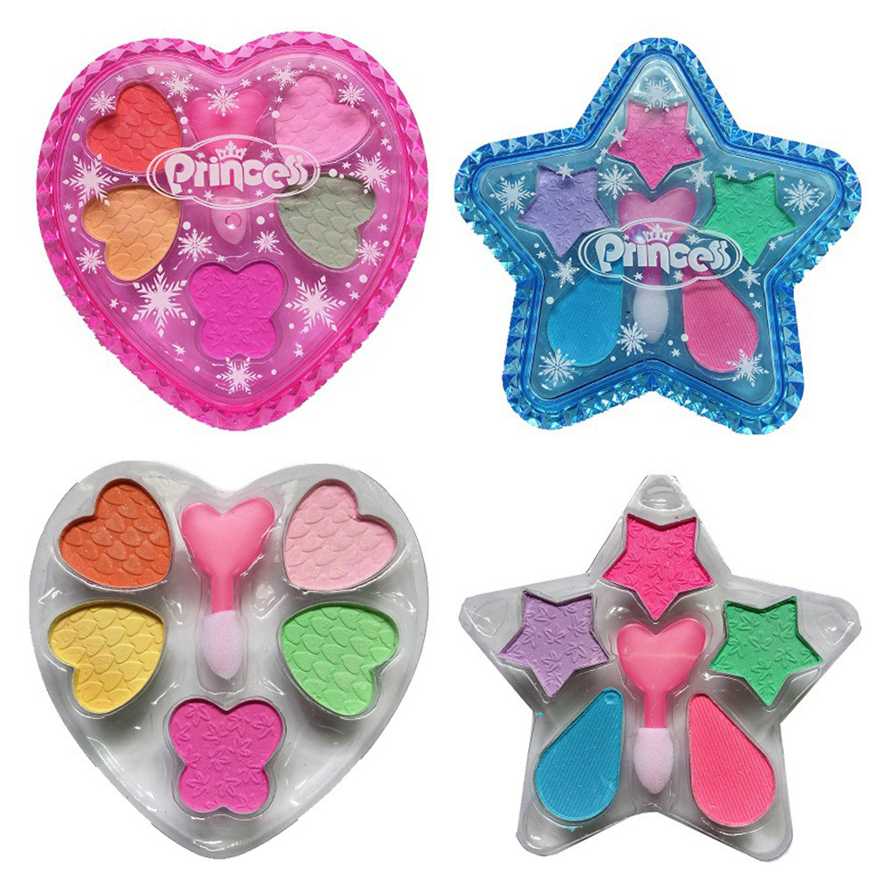 Набор игрушек для макияжа принцессы для девочек, ролевые игры, косметика, водорастворимые тени для век, игрушка для девочек, макияж, тени для...