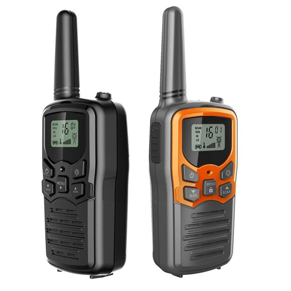 2pcs Portable Handheld Walkie Talkies Mini Two Way Radio Transceiver Outdoor Camping Civil Use  Interphone