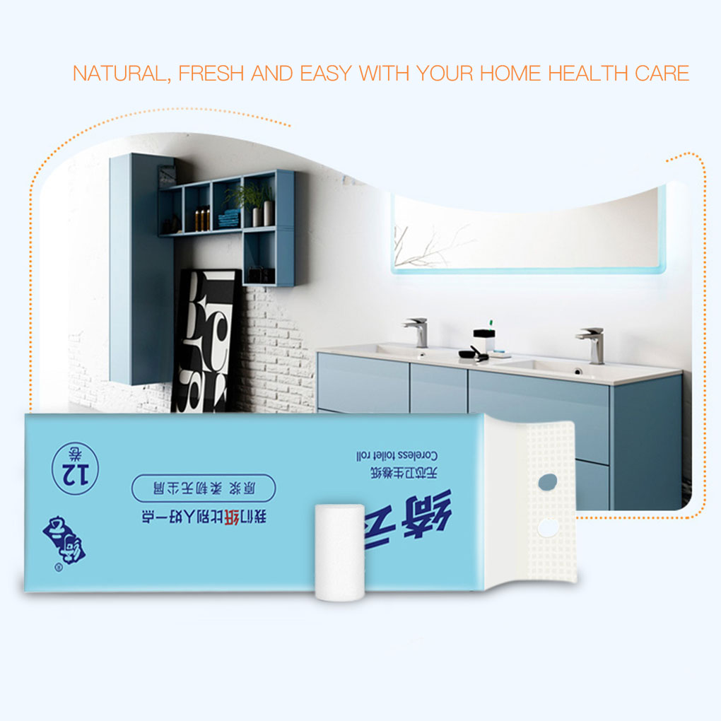 12 Rolls Household Wood Pulp Toilet Paper Home Restaurant Bathroom Washroom Toilet Paper Tissue Napkin