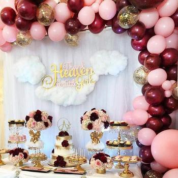 La fiesta de cumpleaños de Borgoña Ballon arco set de guirnaldas boda globos cierre herramienta para anudar cinta accesorios decoración adulto globo para niños