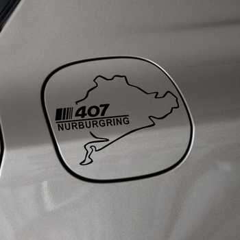 Pegatinas de vinilo resistentes al agua para coches de carreras, pegatinas decorativas para el tanque de combustible de coches Peugeot 407, accesorios reflectantes