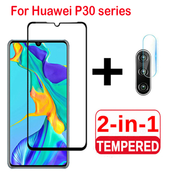 2 in 1 Camera Lens film For Huawei P30 lite P30 Pro Tempered Glass Screen Protector Protective Glass On Huawei P30 Lite glass