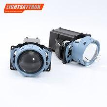 LIGHTSATTACK 3 inch 100W 5000K Bi LED Lens Headlight Auto Projector H4 H7 9006 LED Light Retrofit Kits Car Motorcycle Headlight