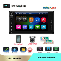 LeeKooLuu 2Din Car Multimedia MP5 Player 7 Inch Auto Radio For Toyota Corolla Rearview Camera Mirror Link Bluetooth SWC USB TF
