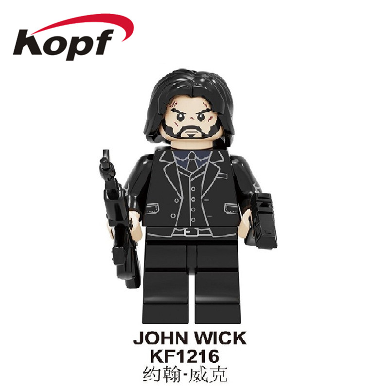 KF1216 Single Sale Building Blocks Movie Figures Bricks Retired Killer John Wick  Jax Raiden Baraka Scorpion For Kids Gift Toys