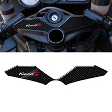 3D Carbon-look Top Triple Clamp Yoke Defender Case for BMW K1200S 2004-2008 2005 2006 2007(China)