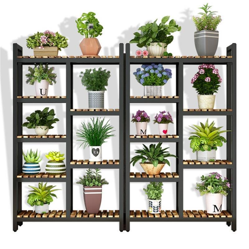 Estanteria Para Plantas Wood Living Room Indoor Plant Stojaki Dekoration Outdoor Stojak Na Kwiaty Balcony Shelf Flower Stand