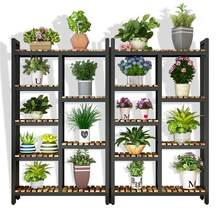 Estanteria Para Plantas Wood Living Room Indoor Plant Stojaki Dekoration Outdoor Stojak Na Kwiaty Balcony Shelf Flower Stand(China)