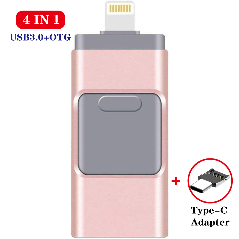 Thumb Drive 128GB Iphone Flash Drive Memory Stick Pendrive Type-C Micro USB Flash Drive 16GB 32GB 64GB Pen Drive Clef Usb3.0