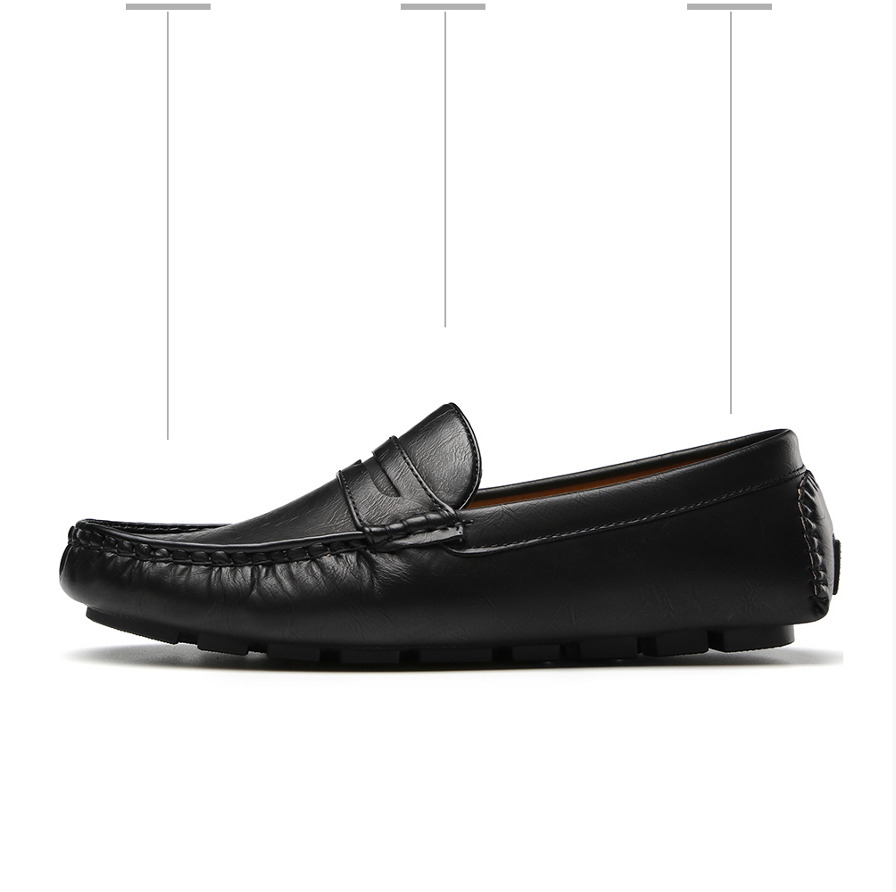 Hc37381487ca644aaba0691556a1b64c9n Men's Casual Shoes Men Moccasins Autumn Fashion Driving Boat Shoes Male Leather Brand Slip-On Classic Men's shoes Loafers