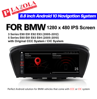 Qualcomm Android 10.0 Car Multimedia GPS Player For BMW 3 Series E90 E91 E92 E93 5 Series E60 E61 E63 E64 CCC CIC System CarPlay image