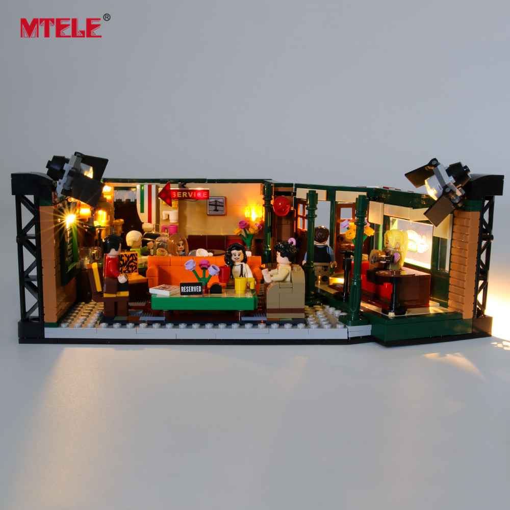 MTELE Brand LED Light Up Kit For Ideas Series Central Perk Lighting Set Compatile With 21319 (NOT Include The Model)