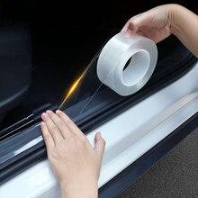 Transparente Adesivos de Carro Protetor de Soleira Da Porta Do Carro Adesivo Fita Faixa Para Carros Auto Car Proteja Arranhões Adesivos Protetor Nano
