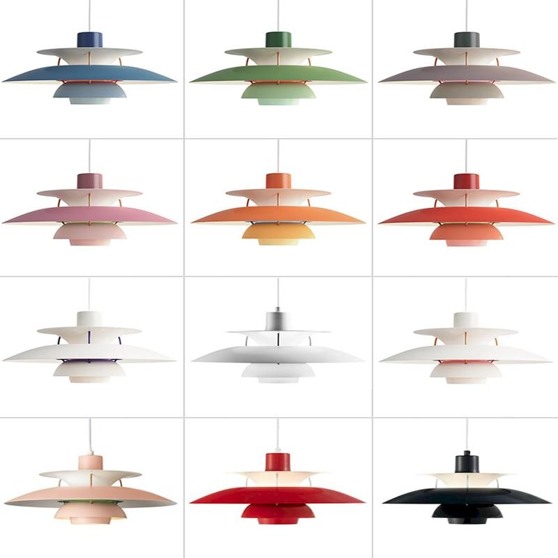 Nordic Scandinavian Ph5 Chandelier Children Room Aluminum Light Danish Designer Bar Lamp Western Restaurant Hanging Lighting