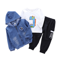 Spring Autumn Baby Boy Girls Clothes Children Cotton Hooded Jacket T Shirt Pants 3Pcs/set Toddler Fashion Costume Kids Tracksuit children clothing set spring autumn casual kids suits for girl coats shirts pants 3pcs girls clothes 1 2 3 4 year baby costume