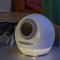 Smart Fully Automatic Closed Self Cleaning Cat Litter Box Round Training Kitten Litter Shovel Pet Products Large