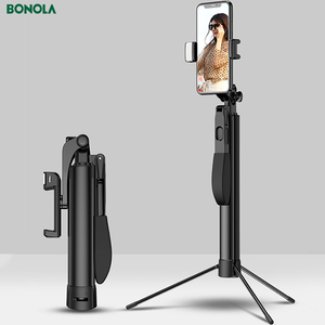 Image 3 - Video Stabilizer Selfie Stick Tripod for iPhone Xiaomi Huawei Gimbal Bluetooth Tripod Selfie Stick Fill Light For Mobile Phone