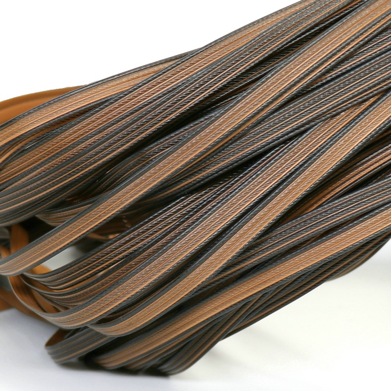 500G Brown Color Four Lines Flat Synthetic Rattan Weaving Material Plastic Rattan For Knit And Repair Chair Table  Hammock Etc