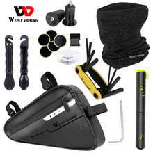 Bicycle Tools Kit Include Bike Pump Bag Tools Outdoor Cycling Equipment MTB Triangle Pannier Repair Tool Package Bike Tube Bag