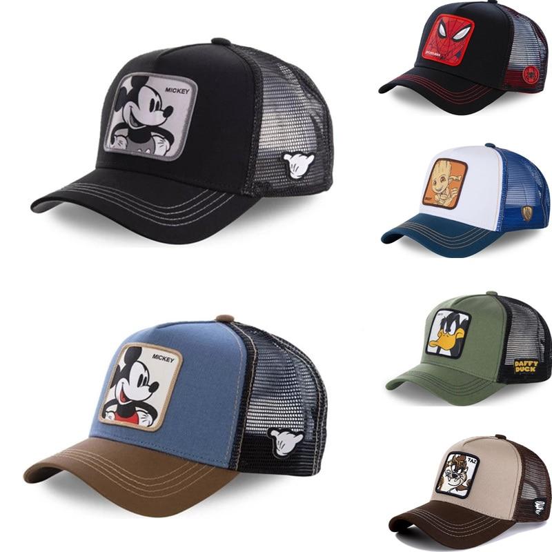 Nuovo marchio Anime Cartoon Mickey DONALD Duck Snapback berretto da Baseball in cotone uomo donna Hip Hop papà cappello a rete cappello camionista Dropshipping 1
