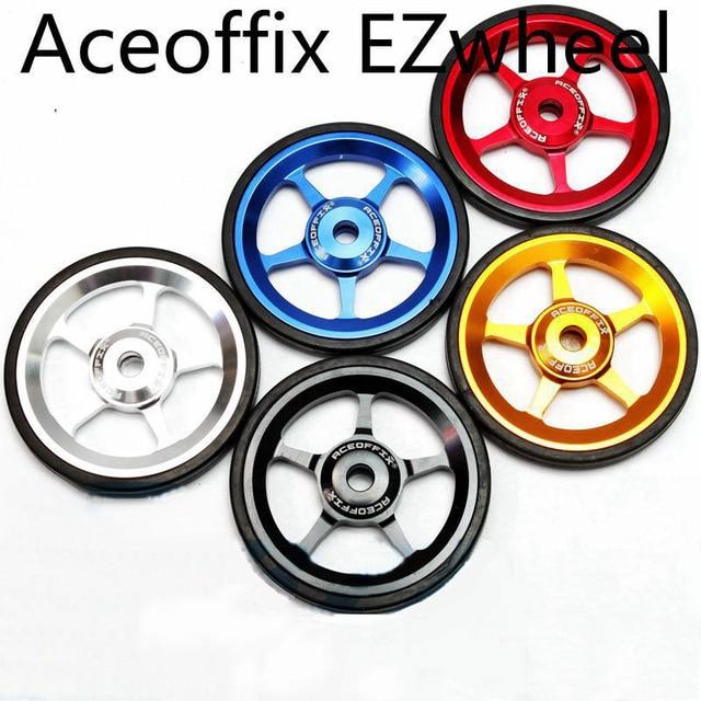 1 paar Fahrrad Easywheel 3 Farben Aluminium Legierung Super Leichte Einfach Räder + Titan schrauben Für Brompton 22 gr/teile