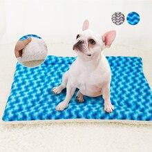 Caliente cama del perro suave invierno perros durmiendo camas Mat para perros grandes de mascotas Casa de perrera lindo hueso patrón de S-XL