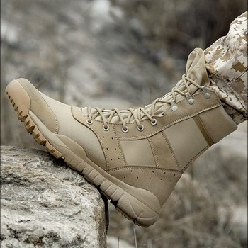 35 48 Size Men Women Ultrallight Outdoor Climbing Shoes Tactical Training Army Boots Summer Breathable Mesh Hiking Desert Boot 2