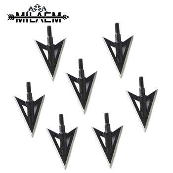 3/6/12pcs 100Gr Archery Blade Arrowhead Stainless Steel Broadheads Target Point Tips Shooting Hunting Arrow Shaft Accessories 3 6 12pcs 100gr archery blade arrowhead stainless steel broadheads target arrow point tips hunting shooting accessories