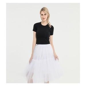 Image 3 - Knee Length Net Tulle Petticoat Womens 50s Petticoat Skirts Vintage Rockabilly Tutu Crinoline Underskirt for Women CQ046