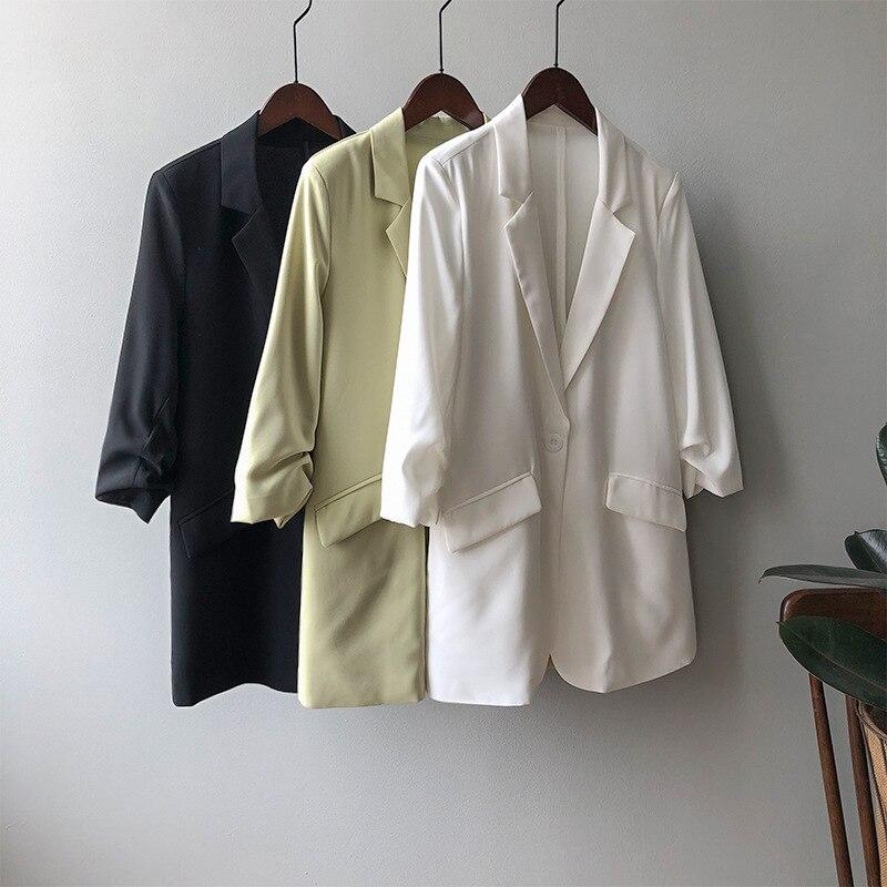 2020 Autumn New Small Suit Women's Korean-Style Solid Color Fashion Thin Drape Suit Sunscreen Jacket