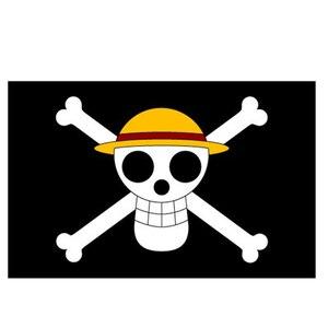 90*60 см цельная соломенная шляпа Пираты труба баннер пользовательских реквизитов Косплей Анимация вокруг оптовая продажа флаг пиратов NN127