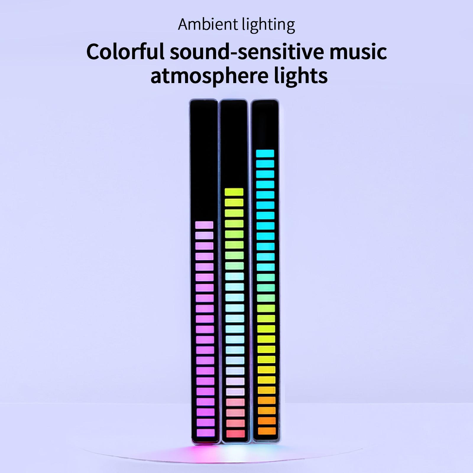música led luz de nível áudio indicador