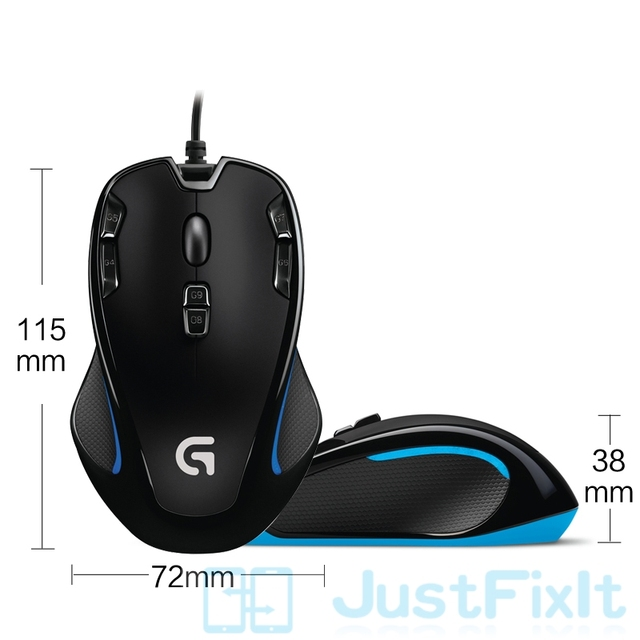 Original Logitech G300s Gaming Mouse 2500DPI Ergonomic Wired Optical Computer Games Mouse