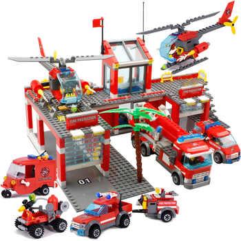 244 pçs combate a incêndios caminhões de resgate carro blocos de construção cidade polícia bombeiro tijolos crianças meninos brinquedos presentes natal