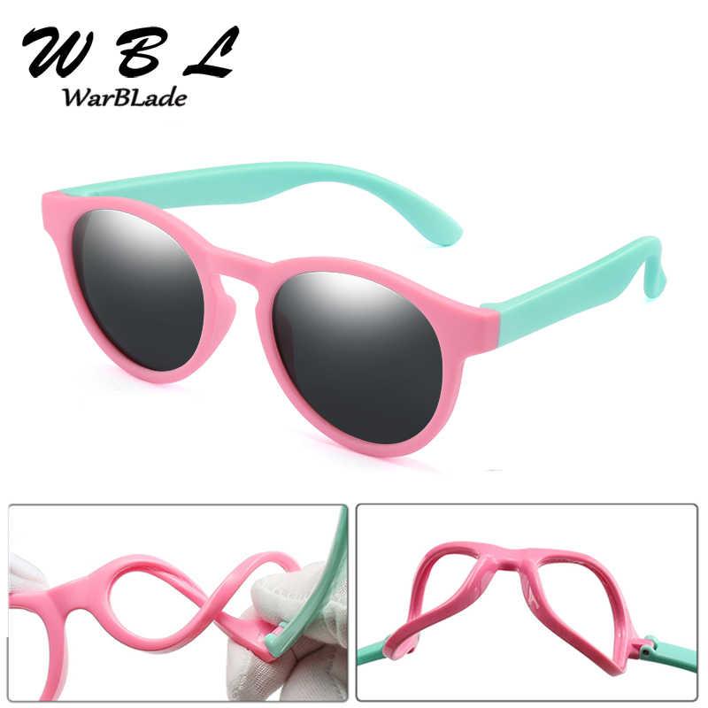 WarBLade ילדים משקפי שמש מקוטב בני בנות עגול בטיחות שמש משקפיים ילד תינוק סיליקון משקפי משקפיים UV400 2020 חם