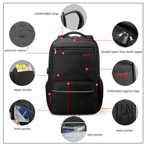 Image 4 - Tigernu marque Anti vol 15.6 pouces hommes ordinateurs portables dentreprise sac à dos USB Charge hommes Mochila sac à dos étanche sac décole pour les adolescents