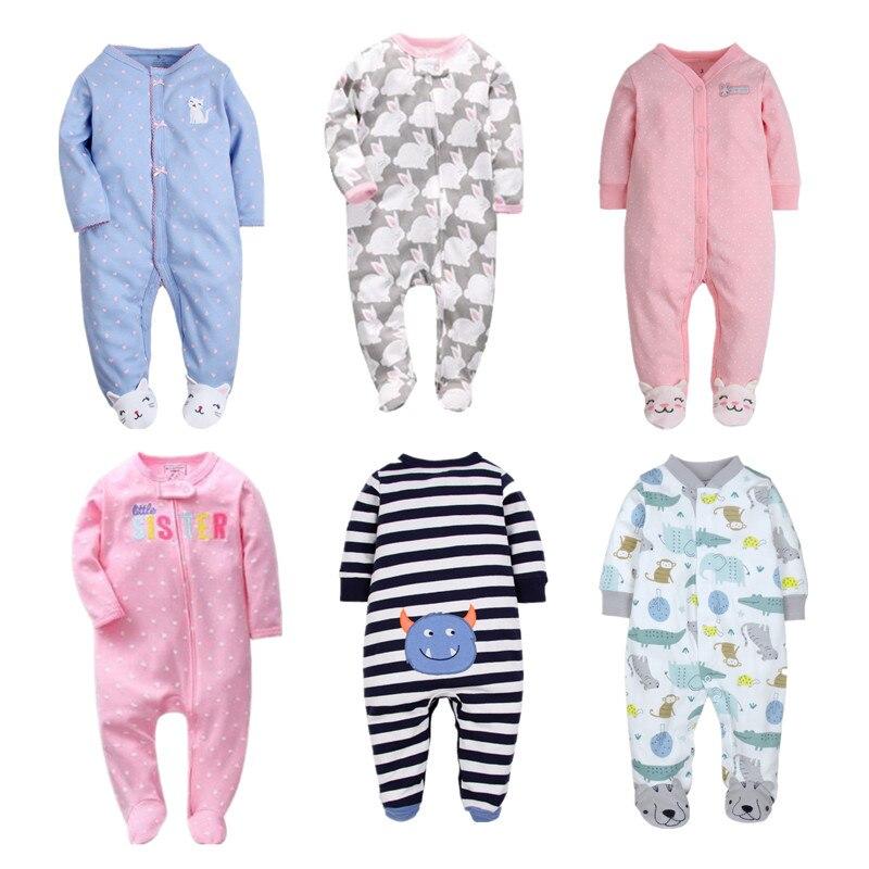 Orangemom Marca primavera verão Romper Do Bebê Mangas Compridas 100% Pijama de Algodão Do Bebê Dos Desenhos Animados Impresso Bebê Recém-nascido Meninas Meninos Roupas