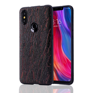 Image 2 - Cowhide Phone Case For Xiaomi Redmi Note 5 6 6a 7 7a 8 Pro For Mi 8 9 se 9T A1 A2 A3 lite Y3 Poco F1 Mix 2s 3 Bark texture Cover
